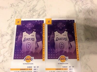 2 Tickets To Lakers vs Suns- Section 319