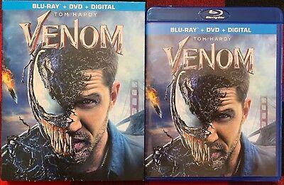 MARVEL VENOM BLU RAY DVD 2 DISC SET - SLIPCOVER SLEEVE FREE WORLD WIDE SHIPPING