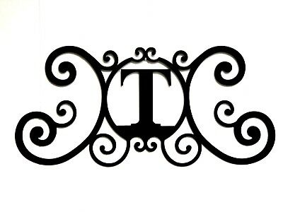 Iron Metal Letter T Personalized Initial Name Wall Art Decoration Minor Defect