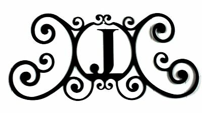 Iron Metal Letter J Personalized Initial Name Wall Art Decoration Minor Defect