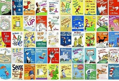 Lot of 10 RANDOM Dr- Seuss Children Kids Learn to I Can Read Books Cat Hat