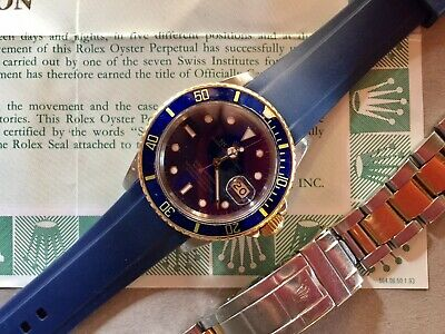 Rolex Submariner Date SSYellow Gold Blue Dial - 116613