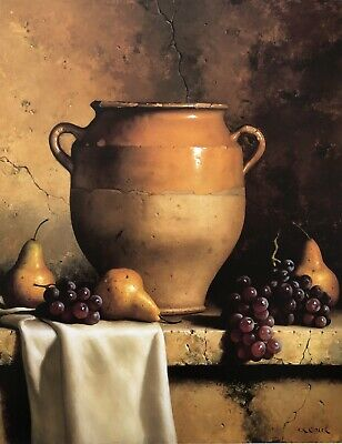 Out Of Print Earthenware And Grapes By Loran Speck 1943-2011