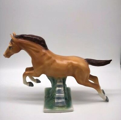 Vintage  Porcelain Horse Jumping  made in mexico