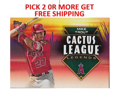 2019 Topps Cactus League Legends singles Pick 2 or More Get Free Shipping