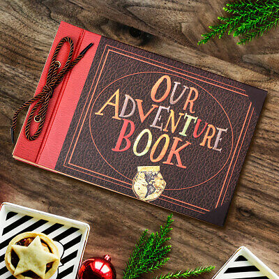 LINKEDWIN 3-D Raised Our Adventure Book Embossed Scrapbook Album 11-6 x 7-5 in