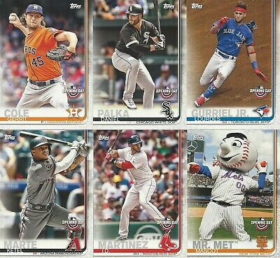2019 Topps Opening Day Baseball You Pick- Free Shipping Base and Parallels