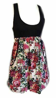 Wet Seal Sun Dress Black and Floral Size Small