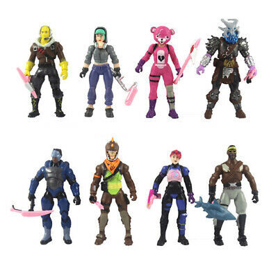 8pc Fortnite Battle Royale S8 Action Figure Display Collection Toy Doll Playset