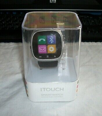 iTouch Black - Silver Smartwatch For Android - iOS w Charger NEW