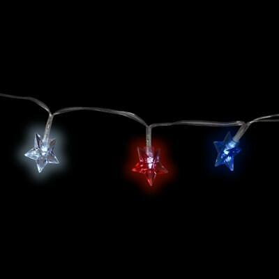 4th of July Battery-Operated Patriotic Star-Shaped LED Lights 3 ft- Strands w
