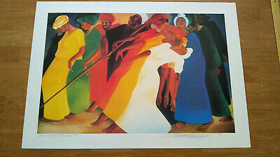 Dancing for the Lord by Bernard Stanley Hoyes Offset Lithograph Signed 95