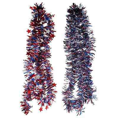 4th of July Patriotic Garland 108 in- Red Blue w