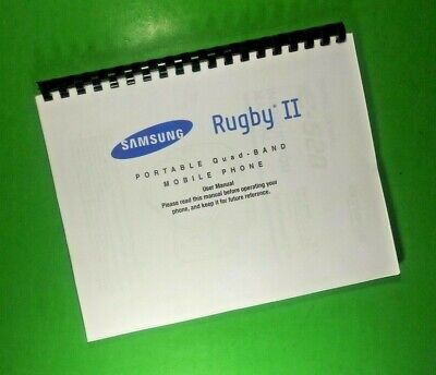 Samsung Rugby II Quad Band Phone 187 Page Laser 8-5X11 Owners Manual Guide