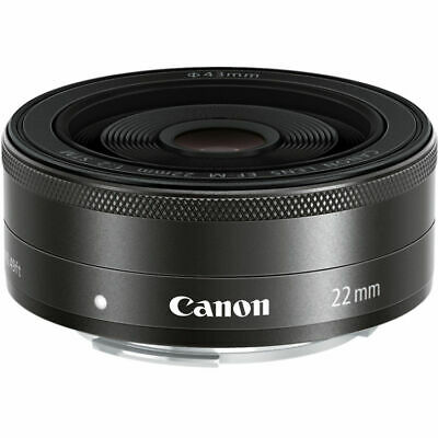 Canon EF-M 22mm f2 STM Lenses - Black