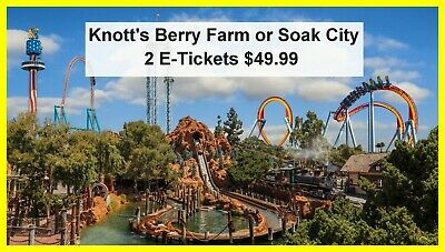 Knotts Berry Farm or Soak City 2 E-Tickets Delivered Instantly 49-99