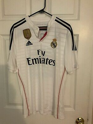 Adidas Real Madrid Home Jersey Shirt  20142015 Modric 19 White  Size M