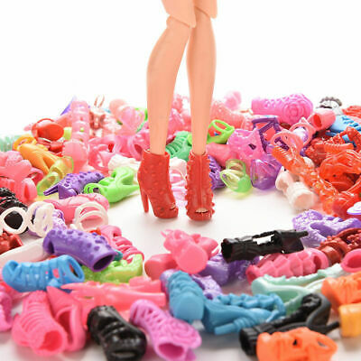 15 Pairs Brand New Beautiful Barbie Doll Shoes Xmas Birthday Gift For Child