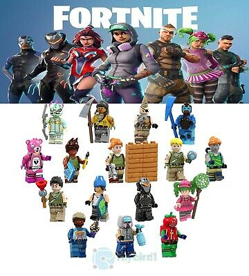 16PCS Fortnite Battle Royale Character Mini Figure Building Blocks DIY Kid Toys