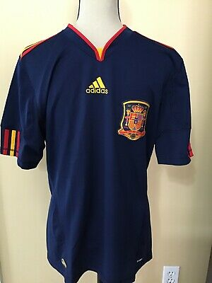 Adidas Spain 2010 World Cup Blue Away Soccer Jersey  Size SMALL  España