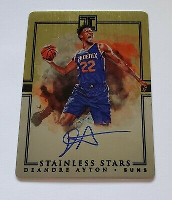 2018-19 DeAndre Ayton Panini Impeccable Stainless Stars Auto Rookie Rc 0510