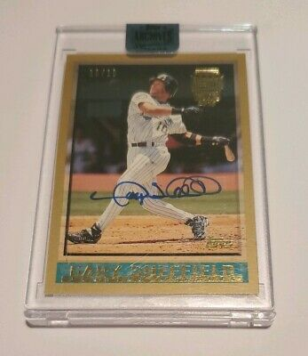 2018 Gary Sheffield Topps Archives Auto Autograph 1010 NICE