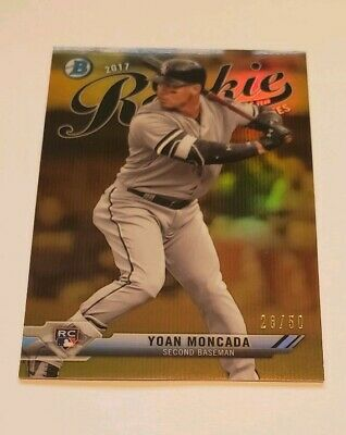 2017 Yoan Moncada Bowman Chrome Gold Refractor Rookie Rc 2850 NICE
