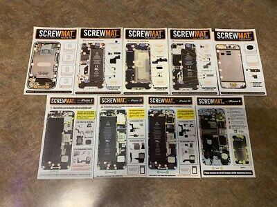 ScrewMat iPhone Repair Layout Magnetic Screw Locator Tool Set Of 9 Pre Owned