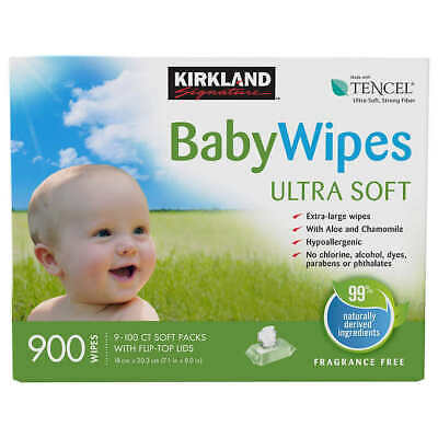Kirkland Signature Baby Wipes 900-count - Free Shipping - Best Price - Fresh