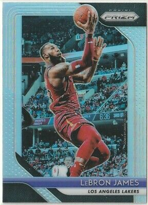 201819 PRIZM BASKETBALL LEBRON JAMES SILVER PRIZM REFRACTOR CARD LA LAKERS