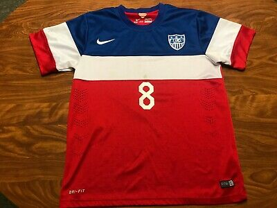MENS AUTHENTIC NIKE CLINT DEMPSEY 2014 USA WORLD CUP SOCCER JERSEY SIZE MEDIUM