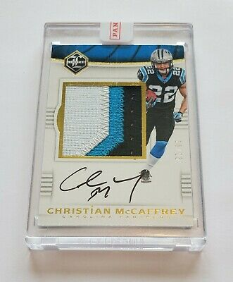 2017 Christian McCaffrey Panini Limited 3 Color Patch Auto Rookie Rc 1825