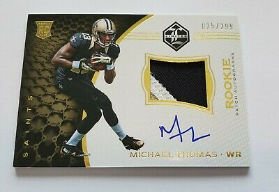 2016 Michael Thomas Panini Limited 3 Color Patch Auto Rookie Rc 025299 NICE