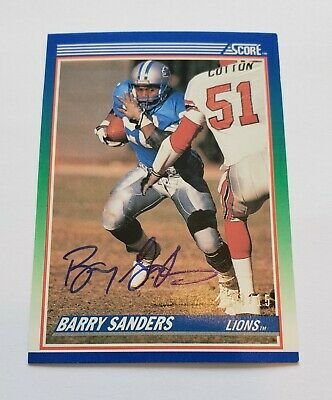 2018 Barry Sanders 1990 Score Panini Classic Recollection Buyback Auto 0315