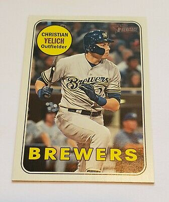 2018 Christian Yelich Topps Heritage Action Variation 720 NICE