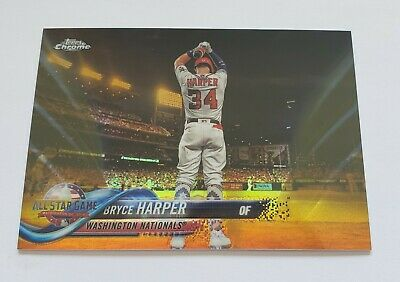 2018 Bryce Harper Topps Chrome Update Gold Refractor 0450 NICE