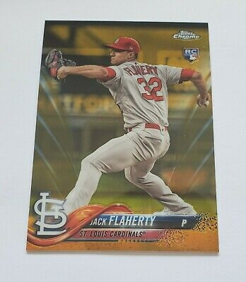 2018 Jack Flaherty Topps Chrome Update Gold Refractor Rookie Rc 3950 NICE