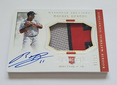 2018 Rafeal Devers Panini National Treasures Patch Auto Rookie Rc 8399 NICE