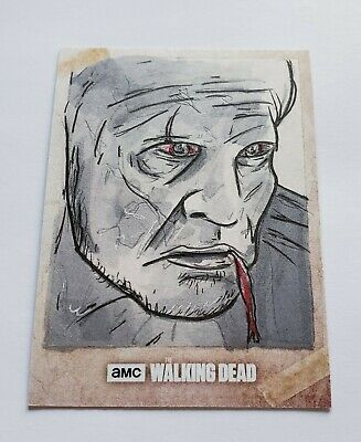 2017 Topps AMC The Walking Dead Sketch Art Auto Autograph 11 Rees Finlay