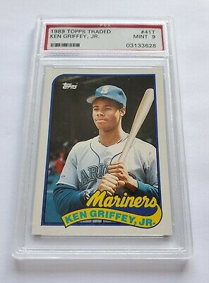 1989 Ken Griffey Jr- PSA 9 Topps Traded Rookie Rc 41T NICE Hall Of Fame
