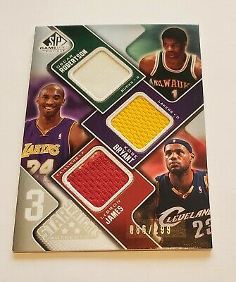2009-10 LeBron James Kobe Bryant Oscar Robertson Sp Game Used Patch 086299