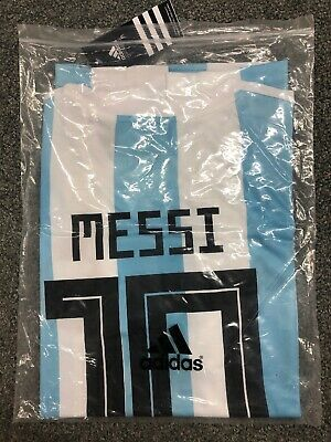 Lionel Messi Home Jersey 2018 World Cup Argentina 10 Soccer Mens - Size Medium