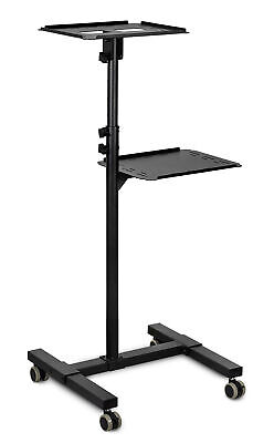 Mount-It Mobile Projector Stand Rolling Height Adj Laptop and Projector Stand