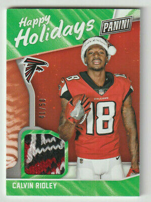 CALVIN RIDLEY Falcons 2018 Black Friday Materials SANTA HAT PATCH SP RC 4150