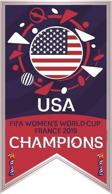 2019 FIFA WOMENS WORLD CUP USA CHAMPIONS BANNER SOCCER PIN RAPINOE MORGAN DUNN