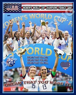 USWNT USA WOMENS WORLD CUP CHAMPIONS FRANCE 2019  8x10 PRINT ALEX RAPINOE POS
