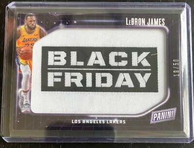 2018-19 Panini Fathers Day LEBRON JAMES LAKERS SSP Black Friday Parallel 50