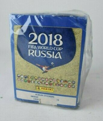 PANINI 2018 FIFA World Cup Album Stickers Sealed Box 50 Packs