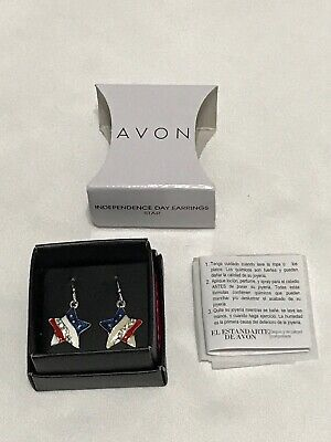 Avon - Fourth of July - Red White and Blue Star Earrings - Independence Day
