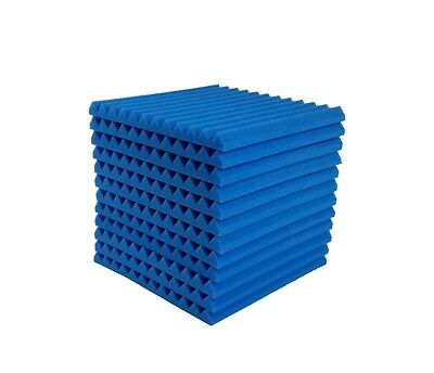 12x12x1 Wedge Acoustic Foam Soundproof Wall Record Studio Panel Tile BL